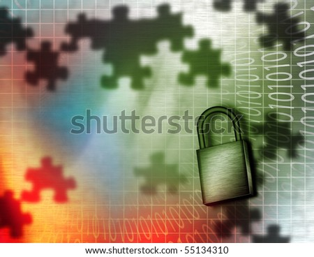 Electronic Security - stock photo