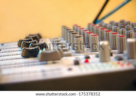 Electronic sound equipment  - stock photo