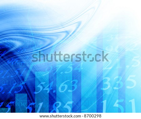 Electronic stock numbers going up - stock photo