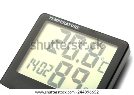 Electronic thermometer - stock photo