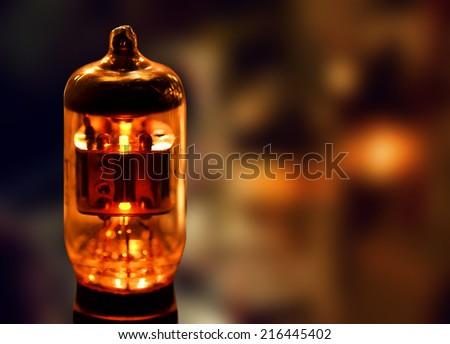 Electronic vacuum tube - stock photo