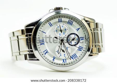 Elegance and beautiful wristwatch - stock photo