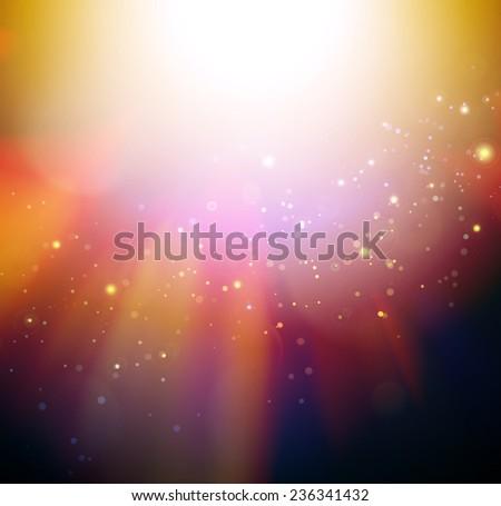Elegance blurred Lights on golden background  - stock photo