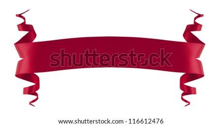 Elegance red ribbon - stock photo