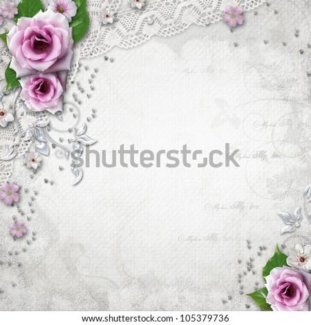 Elegance wedding background - stock photo