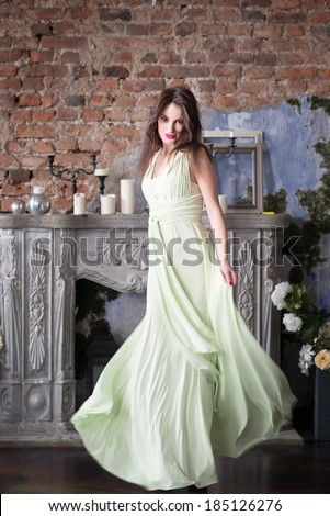 Elegance woman, long dress
