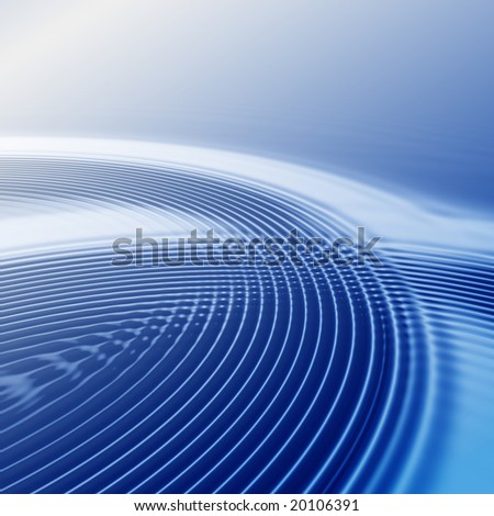 elegant abstract blue ripples with interference and highlight - stock photo