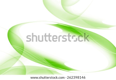 elegant abstract green background with wavy lines - stock photo