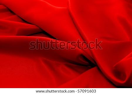 Elegant and soft red satin background - stock photo