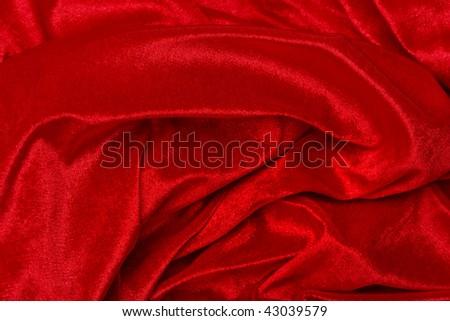 Elegant and soft red Velvet background - stock photo