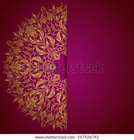 elegant background lace ornament place text stock vector 126475916