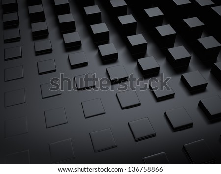 Elegant black metallic background with many bars and space for text - stock photo