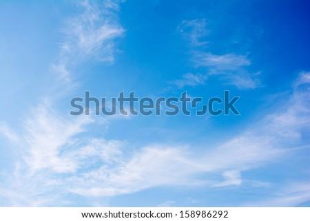 Elegant blank sky background  - stock photo
