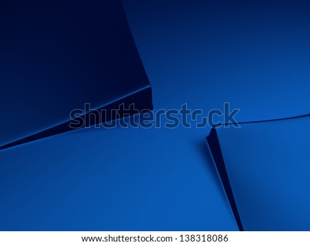 Elegant blue metallic background with two squares and space for text - stock photo