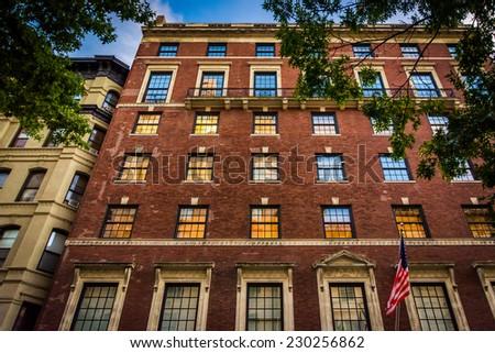 Elegant brick building in Upper East Side, Manhattan, New York. - stock photo