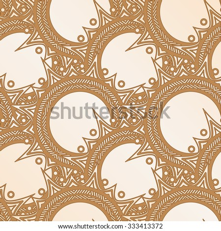 Elegant brown pattern of circular elements with sharp spikes
