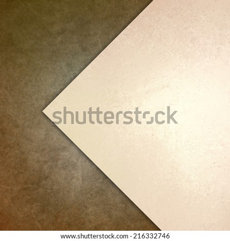 elegant brown white background texture paper with abstract angled triangle and diagonal shape layers - stock photo