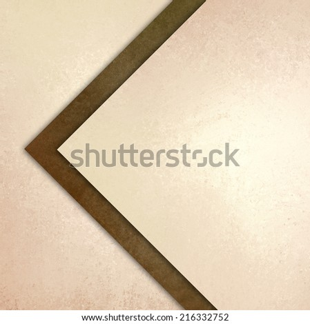 elegant brown white background texture paper with abstract angled triangles and diagonal shapes layered in abstract pattern - stock photo