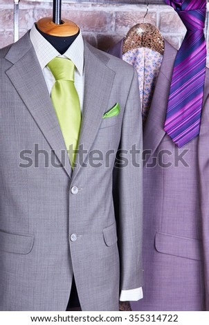 Elegant business suit with a shirt and a tie