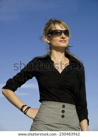 Elegant businesswoman  - stock photo