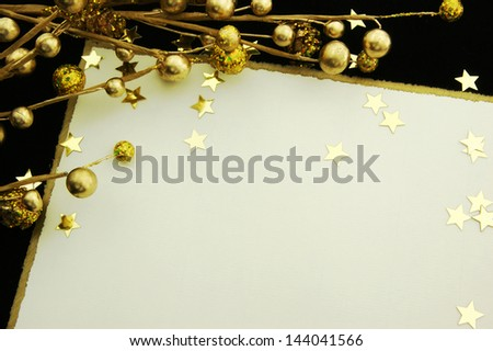 Elegant Card and decoration with stars Copy space for your text