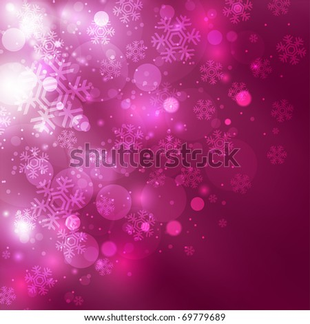 Elegant christmas background with beautiful snowflakes