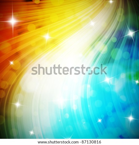 Elegant christmas background with bokehs and stars - stock photo