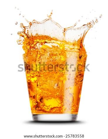 elegant cocktail glass isolated on white background - stock photo