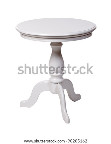 Elegant coffee table isolated over white, with clipping path - stock photo