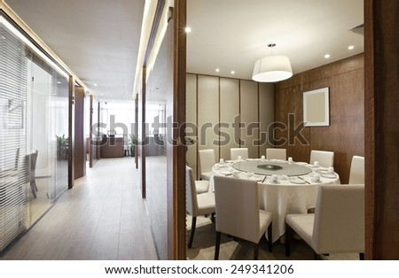 Elegant comfortable restaurant interior