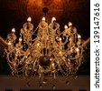 elegant crystal chandelier - stock