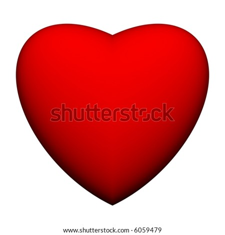 Elegant 3d heart isolated on white