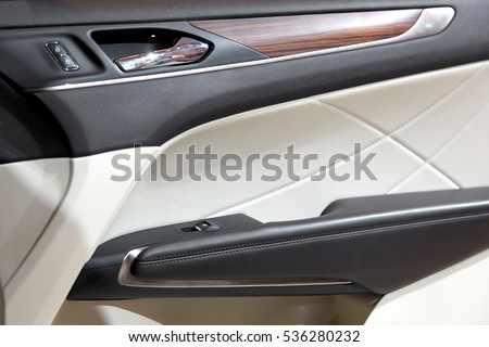Elegant design of luxury car door trim