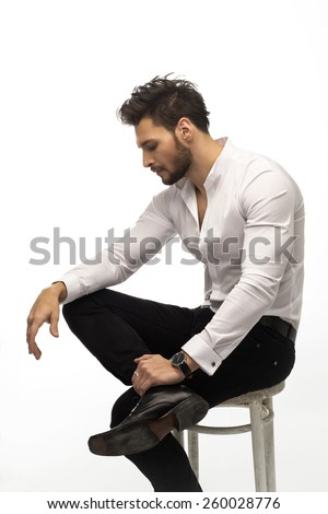 Elegant fashion man - stock photo