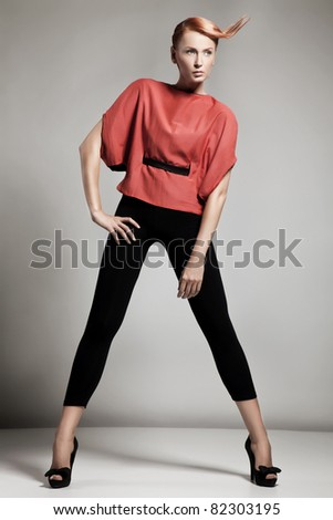 Elegant fashionable woman - stock photo