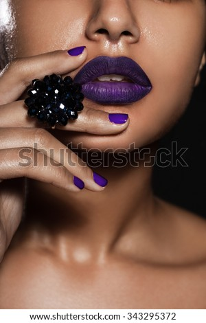 elegant fashionable woman with jewelry - stock photo