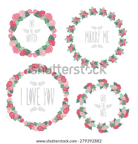 Elegant floral frames with calla flowers, design elements. Can be used for wedding, baby shower, mothers day, valentines day, birthday cards, invitations. Vintage decorative flowers. - stock photo
