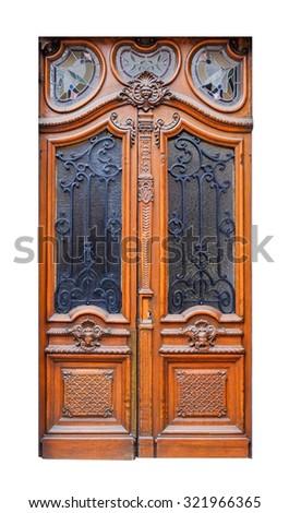 elegant front doors. Elegant Front Door Isolated On White Background Doors D