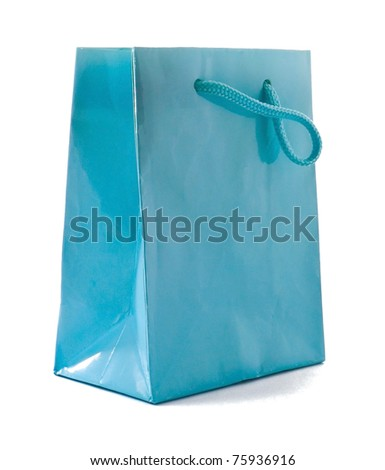 Elegant gift box  on white background