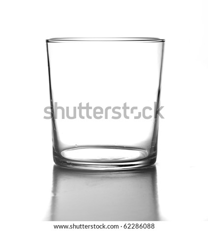 Elegant glass isolated on a white background - stock photo