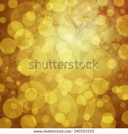 elegant gold background, white bokeh lights. glittering gold balls - stock photo