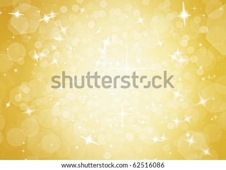 elegant gold christmas background - stock photo