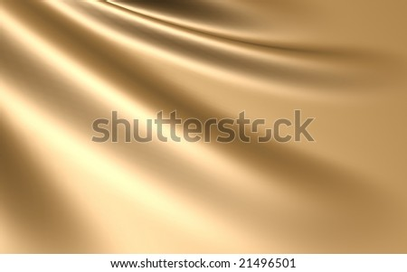 Elegant gold silk satin background - stock photo