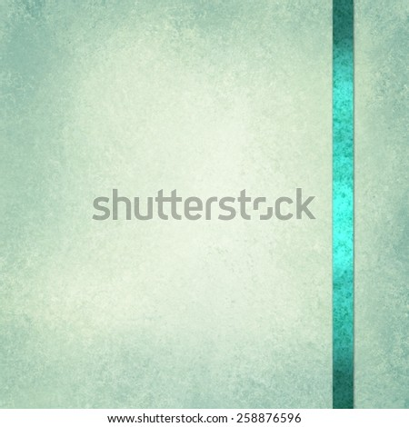 elegant green background paper with shiny teal green ribbon accent and beige center - stock photo