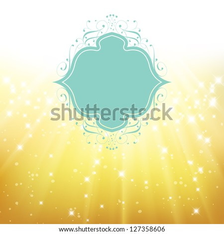 Elegant greeting card. Perfect as invitation or announcement. For vector version, see my portfolio. - stock photo