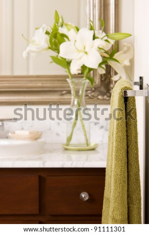 Elegant home bathroom detail - stock photo