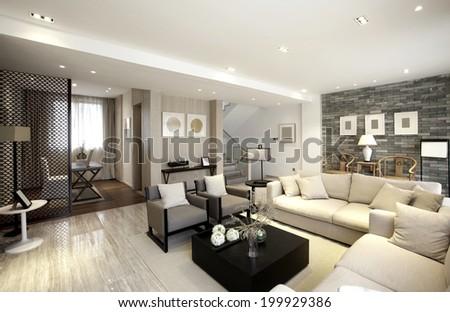 Elegant House Interiors Stock Photo