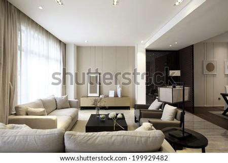 Elegant house interiors - stock photo