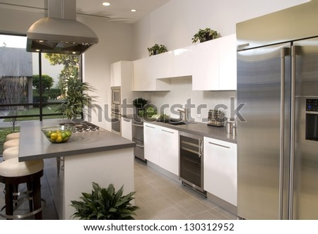 Elegant Kitchen Architecture Stock Images,Photos of Living room, Bathroom,Kitchen,Bed room, - stock photo
