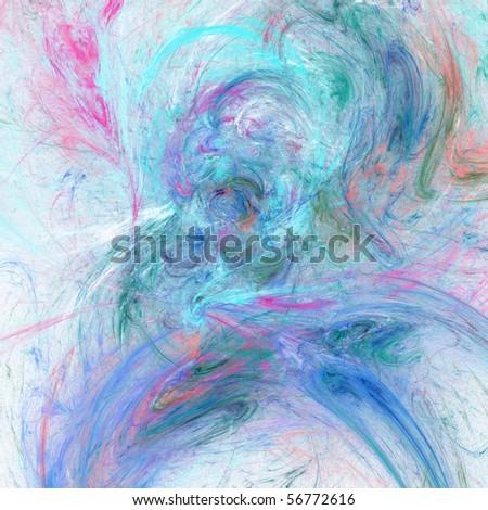 Elegant light fractal background - stock photo